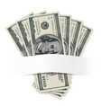 dollars on a white background for design vector image