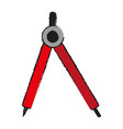 drawing compass school supply icon image vector image vector image
