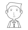 elderly man icon vector image vector image