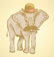 Elephant Hat vector image vector image