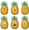 Emotion pineapple set vector image vector image