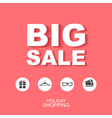 Flat style poster Big sale with icons vector image vector image