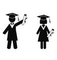 graduated stick figures vector image vector image