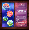 happy birthday labels template vector image