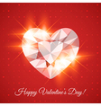 Happy Valentines day Card with diamond vector image