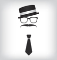 Hipster with tie and glasses vector image vector image