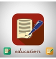Icon education vector image vector image