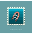 Inflatable boat flat stamp vector image