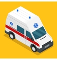 isometric ambulance carv emergency medical van vector image vector image