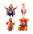 Kings cartoon set vector image