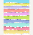 Layered torn bright pastel colors paper with soft