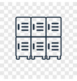 lockers concept linear icon isolated on vector image