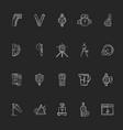 measurement elements chalk white icons set vector image