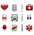 medical and hospital icons set vector image vector image