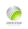 modern environment tech logo concept design vector image
