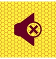 Mute speaker icon symbol Flat modern web design vector image vector image