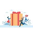 online reward receive gift customers vector image vector image