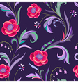 pattern elegant flower night vector image vector image