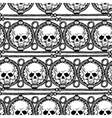 Pattern with ethnic stripes with Skulls vector image vector image