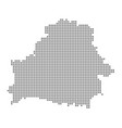 pixel map of belarus dotted map of belarus vector image vector image
