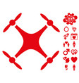 quadcopter icon with valentine bonus vector image vector image