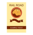 Rail Road Flyer vector image