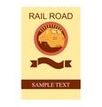 Rail Road Flyer vector image vector image