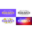 research flat line concept for web banner vector image vector image