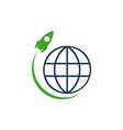 rocket launch icon logo simple sign rocket symbol vector image vector image