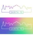 santa fe skyline colorful linear style editable vector image vector image