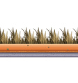 Seamless background with grass along the road vector image vector image