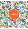 Seamless pattern Education vector image vector image