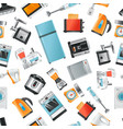 seamless pattern with household appliances vector image