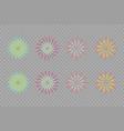 set isolated brightly celebration firework vector image