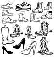 Set of the shoes icons design elements for logo