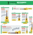 Seven web banners - Guitar Courses vector image vector image