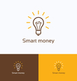 Smart money logo vector image
