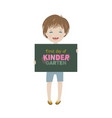 smiling child first day of kindergarten vector image