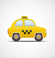 Taxi car isolated on white background vector image vector image