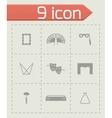 Theatre icon set vector image vector image