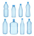 transparent plastic bottles vector image