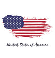 united states of america watercolor national vector image