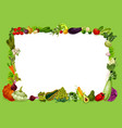 veggies frame vegetable and grocery shop food vector image vector image
