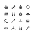 Web store icons set Shopping symbols vector image vector image