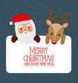 merry christmas and happy new year santa and vector image