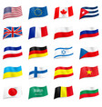 set world flags icons on white vector image