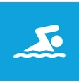 Swimming icon simple vector image
