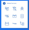 9 fuel icons vector image vector image