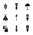 aperture icons set simple style vector image vector image