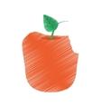 apple bite fruit diet healthy food vector image